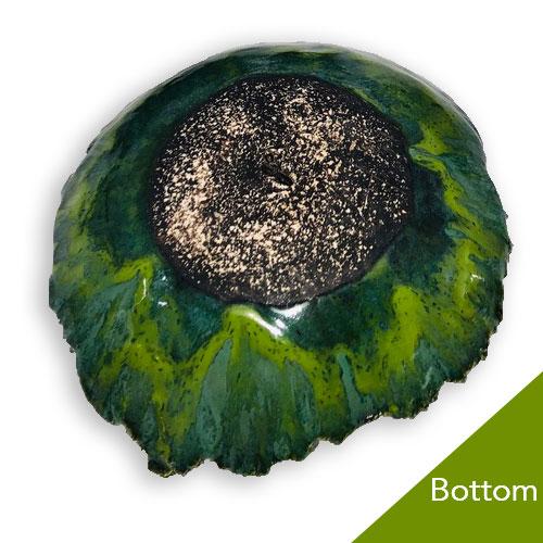 Joël A. Prévost | Ceramic Bowls Green with Pink Bottom