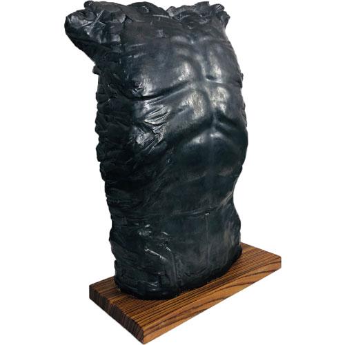 Joël A. Prévost | Sculpture Black Male Torso Nude 2
