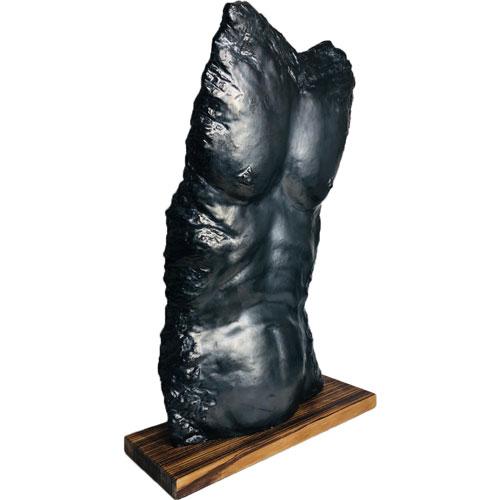 Joël A. Prévost   Sculpture Nude Black Male Torso 3