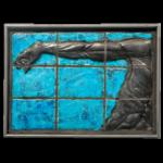 Joël A. Prévost   Arm with Blue Background Mural Sculpture