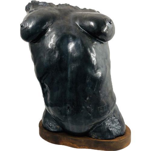 Joël A. Prévost | Canadian Sculptor | Black Beauty Nude Torso 3