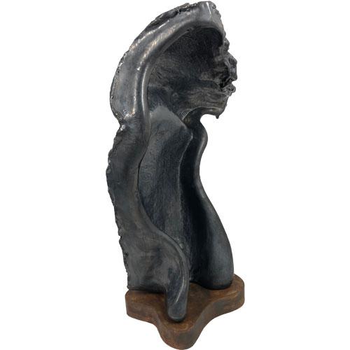 Joël A. Prévost | Canadian Sculptor | Black Nude Torso Artemis 3