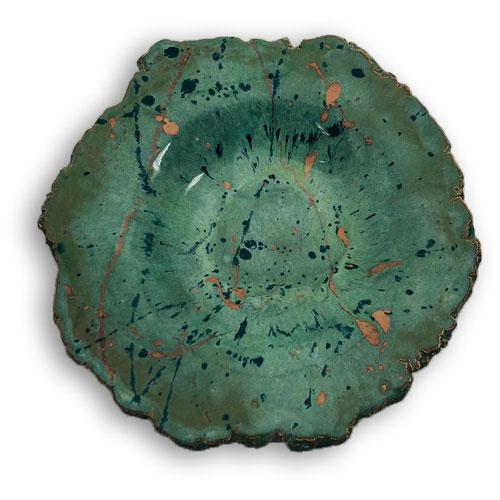 Joël A. Prévost   Canadian Sculptor   Ceramic Platters Deep Forest Black 3