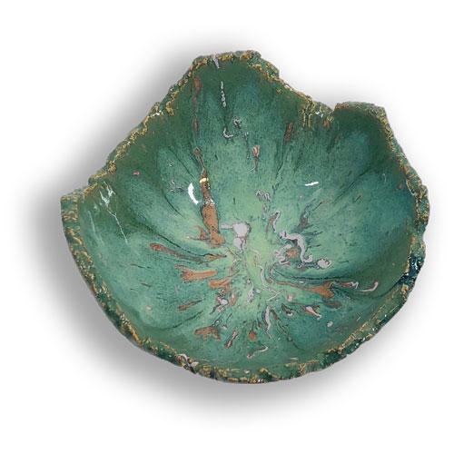 Joël A. Prévost   Canadian Sculptor   Ceramic Platters Deep Forest White 2