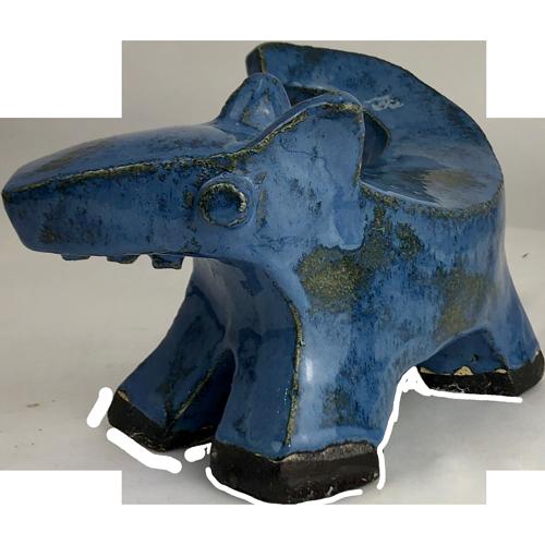 Joel A. Prevost | Sculpture of Blue Dog