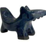 Joel A. Prevost | Sculpture of Small Blue Dog 3