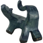 Joel A. Prevost   Sculpture of Small Turquoise Cat 2