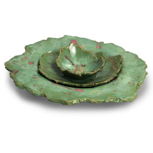 Joel A. Prevost | Canadian Sculptor | Ceramic Bowls Deep Forest Pink 2