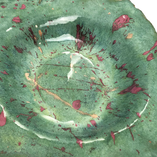 Joel A. Prevost | Canadian Sculptor | Ceramic Bowls Deep Forest Pink 3