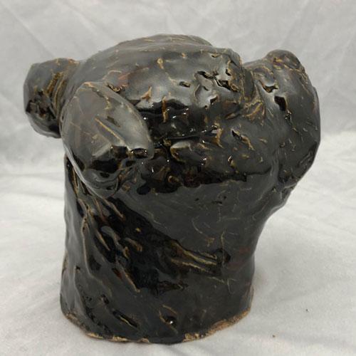 Joel A Prevost Bad Attitude Terrier Clay Statue