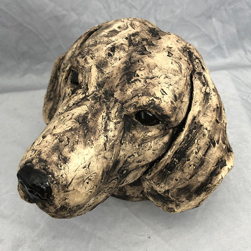 Joel A Prevost Earthy Beagle Clay Statue