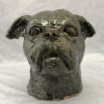 Joel A Prevost Palladuim Terrier Clay Statue