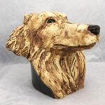 Joel A Prevost Sherland Sheepdog Clay Statue