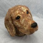Joel A Prevost - Wheaton Beagle Clay Statue