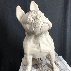 Joel A Prevost Ross statue Progress